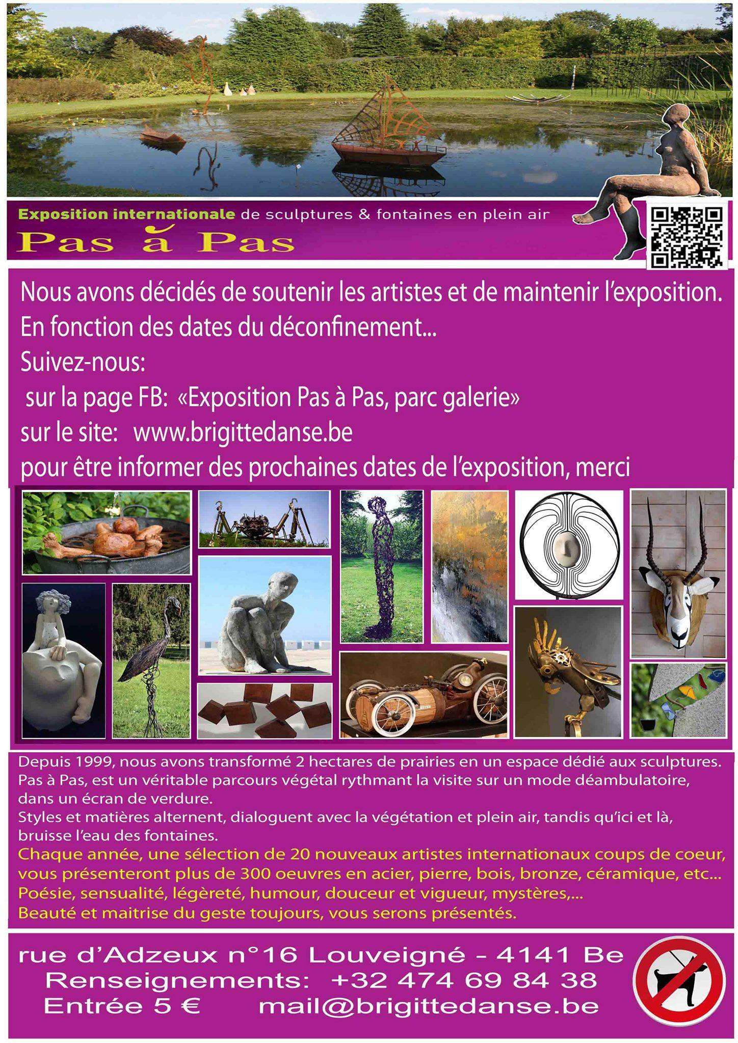 Exposition Pas à Pas, parc galerie